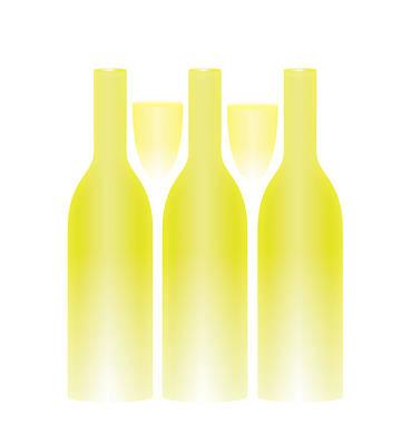 White Wine And Glasses Trompe L'oeil Art Print
