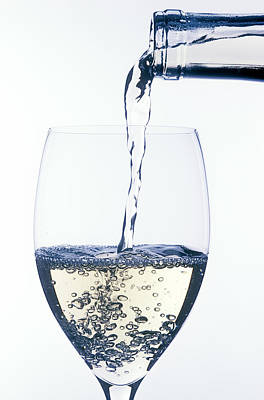 Wine Pour Photograph - White Wine Pouring by Garry Gay