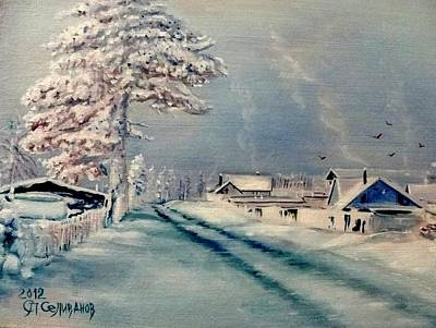 Painting - White Winter by Sergey Selivanov