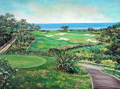 White Witch Golf Course #1 Hole #17 Art Print