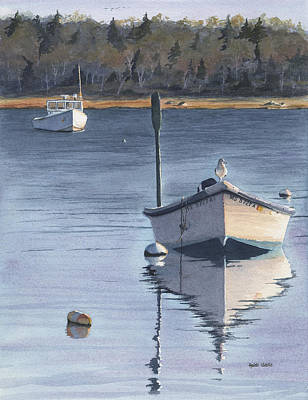 Cape Cod Painting - White Work Boats by Heidi Gallo
