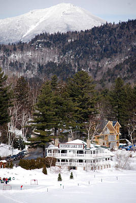 Photograph - Whiteface And Mirror Lake Inn by John Schneider