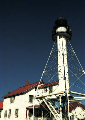 Photograph - Whitefish Point Light Station by Michelle Calkins