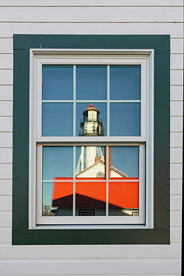 Northwoods Photograph - Whitefish Point Lighthouse Reflected by Adam Jones