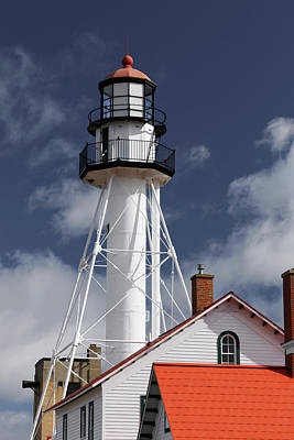 Northwoods Photograph - Whitefish Point Lighthouse, The Oldest by Adam Jones