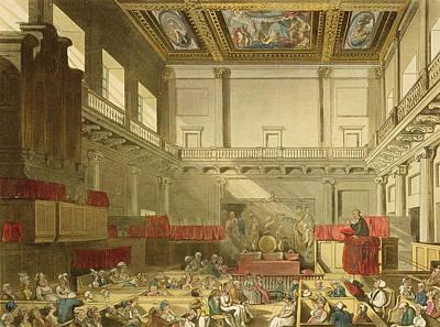 Whitehall, From Ackermanns Microcosm Art Print