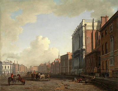 Northeast Painting - Whitehall, Looking Northeast London Signed by Litz Collection