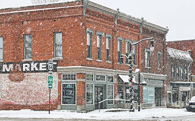 Whitehouse Ohio In Snow 7032 Art Print