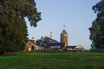 Pennsylvania Barn Digital Art - Whitemarsh Pa - Erdenheim Farm by Bill Cannon