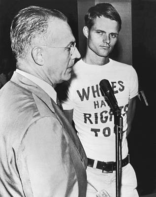Nazi Party Photograph - whites Have Rights Too Shirt by Underwood Archives