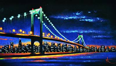 Sunsert Painting - Whitestone Bridge 3 Sold by Thomas Kolendra