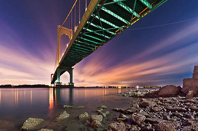 Art Print featuring the photograph Whitestone Bridge by Mihai Andritoiu