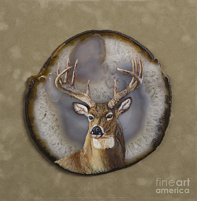 Painting - Whitetail Authority by Bob Williams