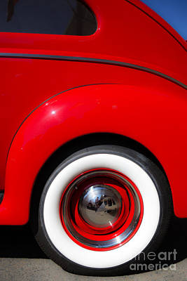 Hubcap Wall Art - Photograph - Whitewalls Two by Edward Fielding