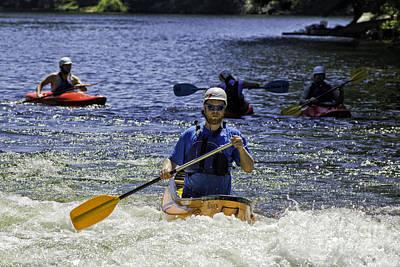 Kayak Photograph - Whitewater Boats by Les Palenik