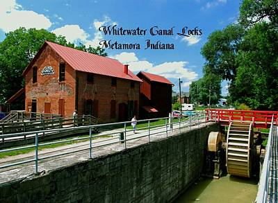 Photograph - Whitewater Canal Locks by Gary Wonning