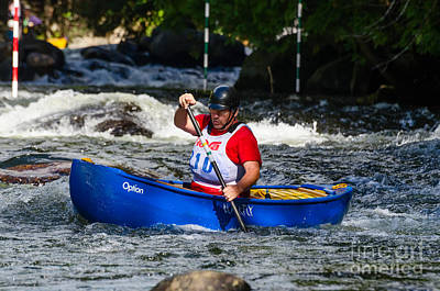 Photograph - Whitewater Canoe Race by Les Palenik