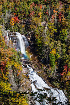 Photograph - Whitewater Falls With Rainbow by John Haldane