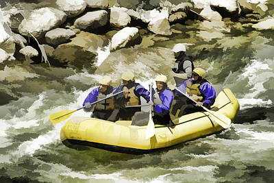 Whitewater Art Print