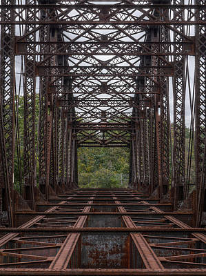 Photograph - Whitford Railway Truss Bridge by Richard Reeve