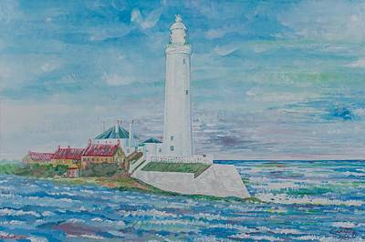 Painting - Whitley Bay - England by Giovanni Caputo