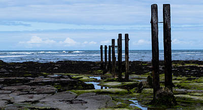 Photograph - Whitley Bay Posts In The Sea by Scott Lyons
