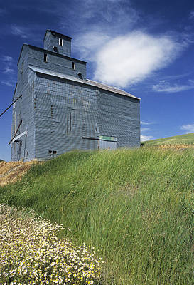 Grey Clouds Photograph - Whitman Co Elevator by Latah Trail Foundation