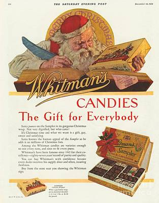 Whitman Drawing - Whitman�s 1920s Usa Sweets Father by The Advertising Archives