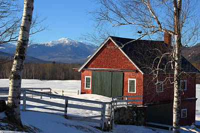 Landscape Photograph - Whitney Farm Winter And Mount Madison by Brett Pelletier