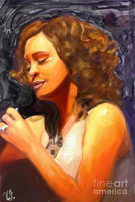 Whitney Gone Too Soon Art Print