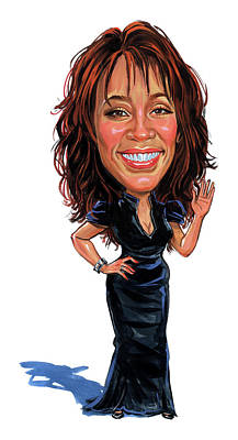 Humor Painting - Whitney Houston by Art
