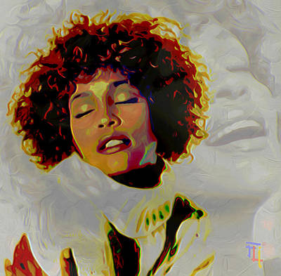 Whitney Houston Print by  Fli Art