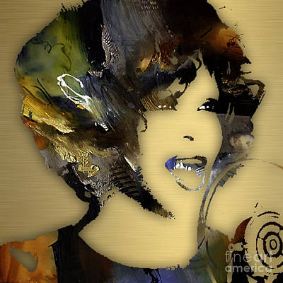 Pop Icon Mixed Media - Whitney Houston Collection by Marvin Blaine