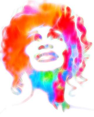 Smiling Mixed Media - Whitney Houston Glowing by Dan Sproul