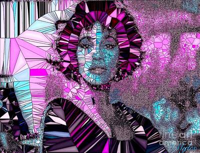 Painting - Whitney Houston I Love You Mosaic by Saundra Myles