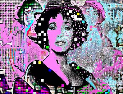 Rhythm And Blues Digital Art - Whitney Houston Sing For Me Again 2 by Saundra Myles