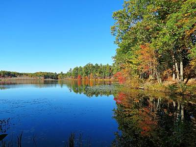 Photograph - Whitney Pond In Autumn by MTBobbins Photography
