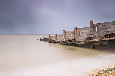 Kent Photograph - Whitstable Beach - Penguins by Ian Hufton
