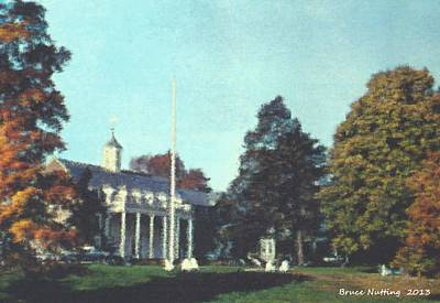 Whittle Hall Art Print by Bruce Nutting