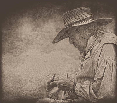 Photograph - Whittling by Pat Abbott
