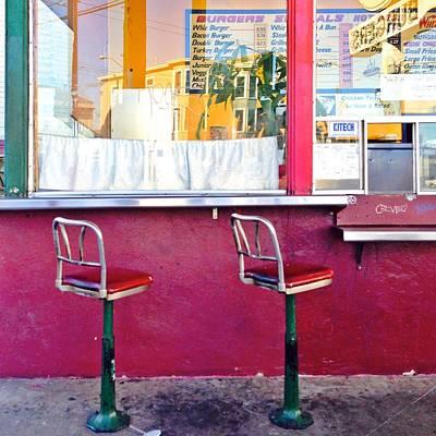 Red Wall Art - Photograph - Whiz Burger by Julie Gebhardt