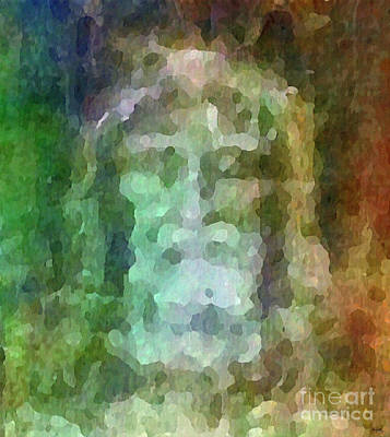 Saviour Digital Art - Who Do Men Say That I Am - The Shroud by Glenn McCarthy Art and Photography