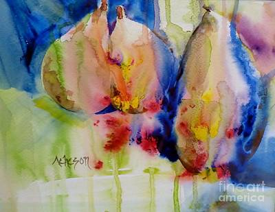 Painting - Who Ever Heard Of Blue Pears by Donna Acheson-Juillet
