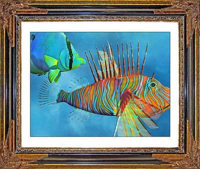 Underwater View Mixed Media - Who Framed The Fishes by Betsy Knapp