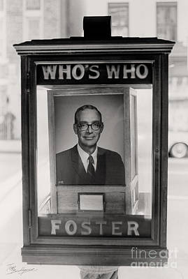 Photograph - Who Is Foster's Who's Who by Tom Brickhouse