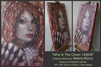 Art Print featuring the painting Who Is The Clown 140609 Comp by Selena Boron