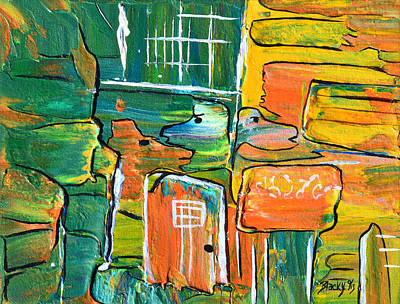 Painting - Who Let The Dogs Out by Donna Blackhall