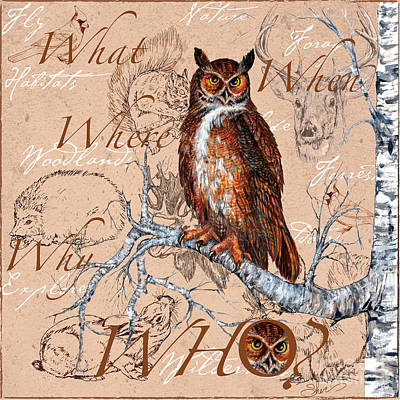 Painting - Who Owl by Sher Sester