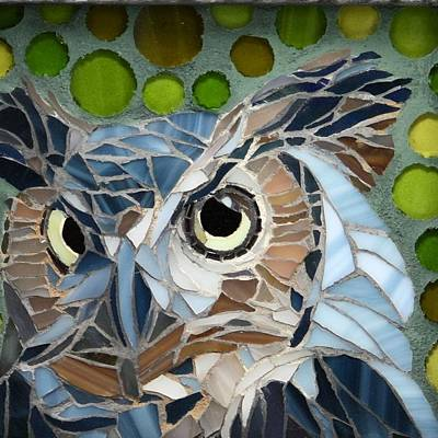 Wall Art - Glass Art - Who Recycled by Linda Pieroth Smith