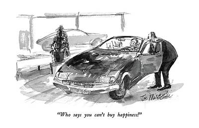 Auto Drawing - Who Says You Can't  Buy Happiness! by Joseph Mirachi